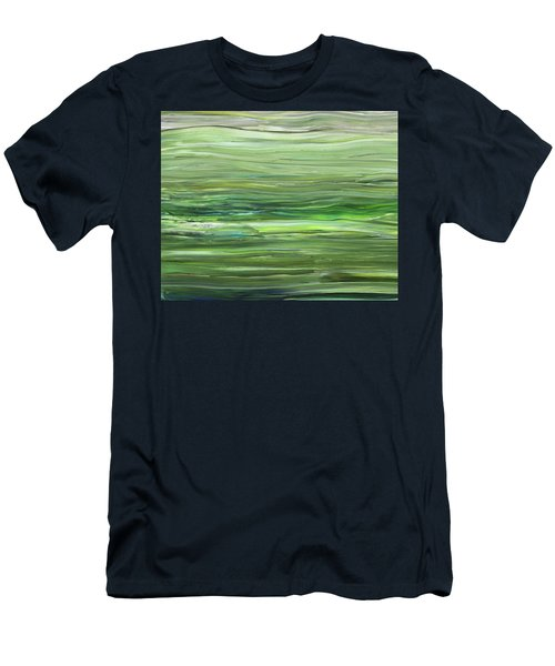 Green Gray Organic Abstract Art For Interior Decor Vii Men's T-Shirt (Athletic Fit)