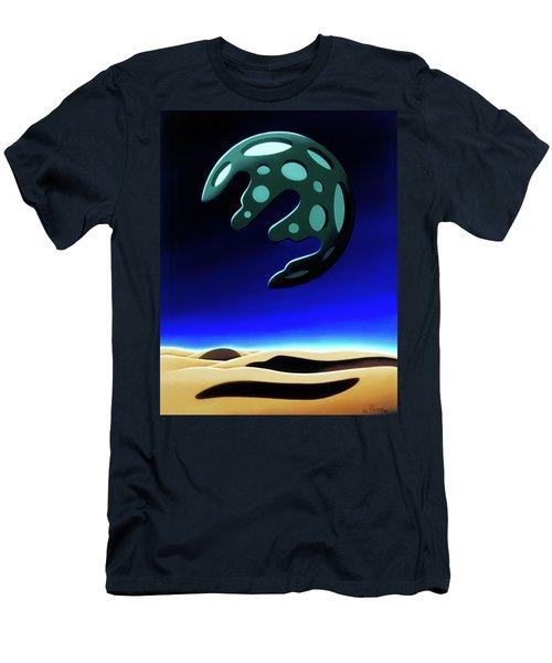 Green Moon Rising Men's T-Shirt (Athletic Fit)
