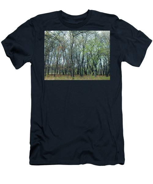 Green Pushing Out Men's T-Shirt (Athletic Fit)