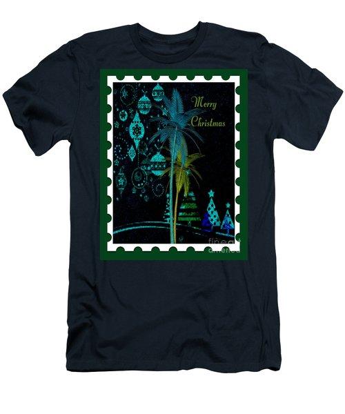 Men's T-Shirt (Slim Fit) featuring the digital art Green Stamp by Megan Dirsa-DuBois