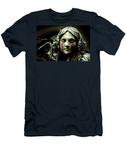 Green Woman A Portrait Men's T-Shirt (Athletic Fit)