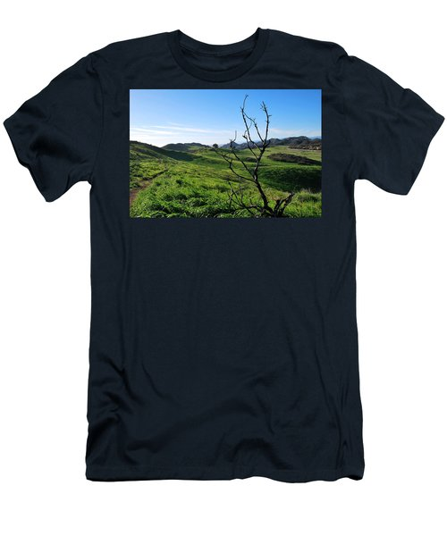 Men's T-Shirt (Athletic Fit) featuring the photograph Greenery In The Hills Landscape by Matt Harang