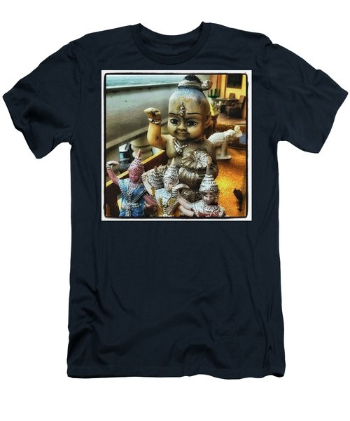 Men's T-Shirt (Athletic Fit) featuring the photograph Greetings From Thailand. These Jolly by Mr Photojimsf