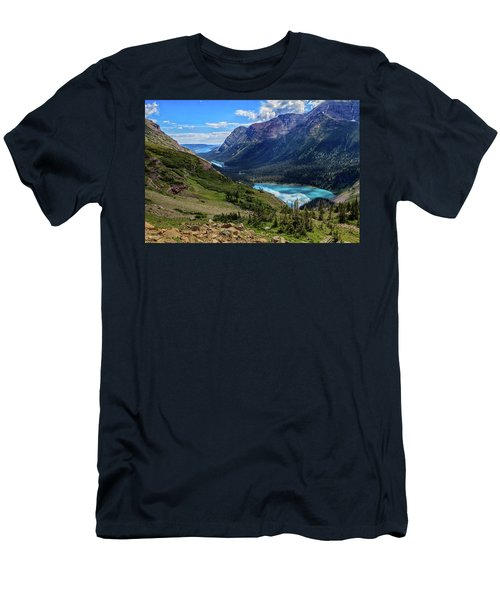 Grinell Hike In Glacier National Park Men's T-Shirt (Slim Fit) by Andres Leon