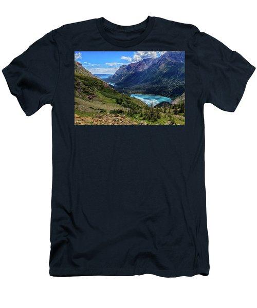 Grinell Hike In Glacier National Park Men's T-Shirt (Slim Fit)
