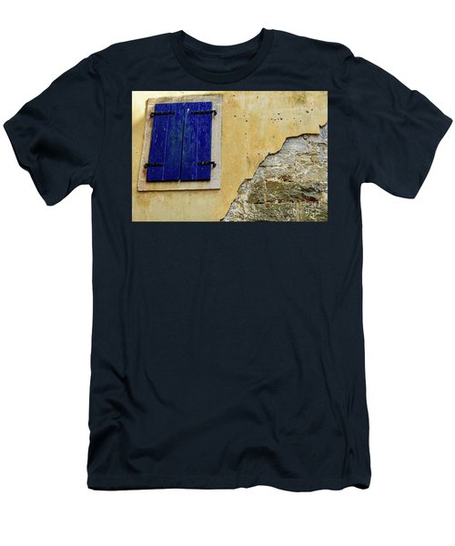 Groznjan Istrian Hill Town Stonework And Blue Shutters  - Istria, Croatia Men's T-Shirt (Athletic Fit)