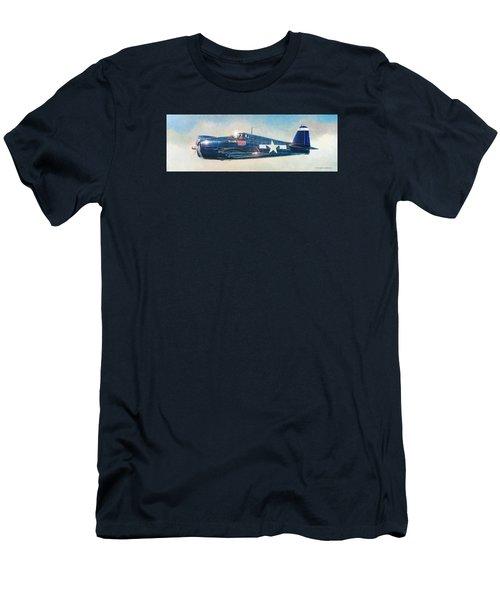 Grumman F6f-5 Hellcat Men's T-Shirt (Slim Fit) by Douglas Castleman