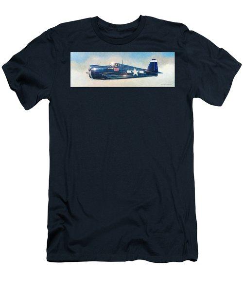 Grumman F6f-5 Hellcat Men's T-Shirt (Athletic Fit)