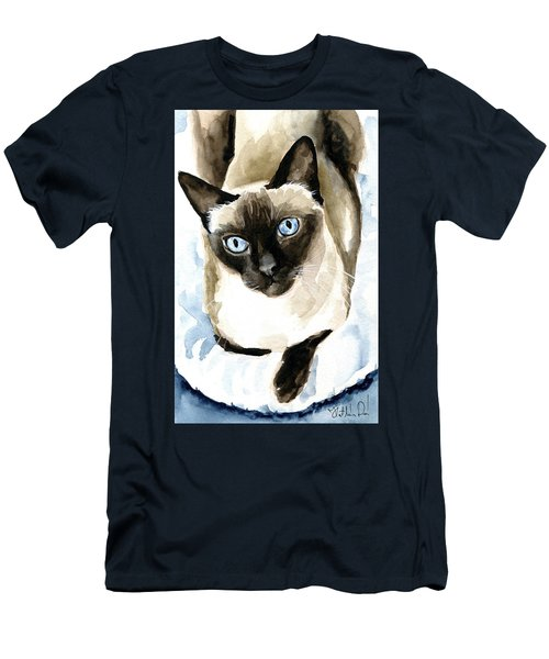 Guardian Angel - Siamese Cat Portrait Men's T-Shirt (Athletic Fit)