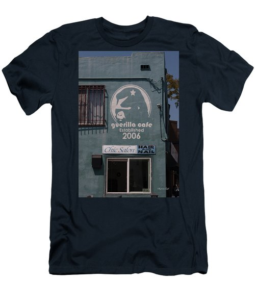 Guerilla Cafe And Chic Salon Men's T-Shirt (Athletic Fit)