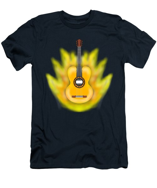 Guitar On Fire Men's T-Shirt (Athletic Fit)