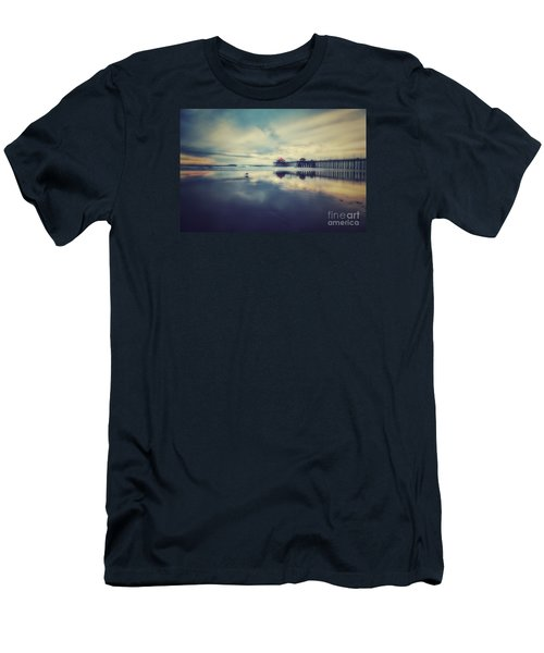 Gull At Huntington Beach Pier Men's T-Shirt (Athletic Fit)
