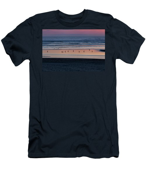 Gulls At Sunset Men's T-Shirt (Athletic Fit)