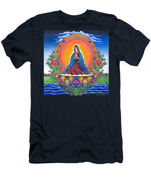 Guru Guadalupe Men's T-Shirt (Slim Fit) by James Roderick