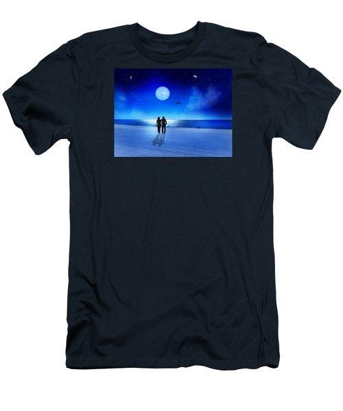 Night Blessings Men's T-Shirt (Slim Fit) by Bernd Hau