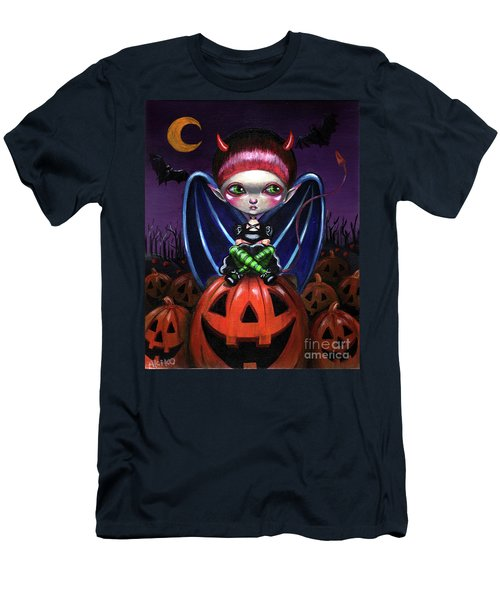 Halloween Little Devil Men's T-Shirt (Athletic Fit)