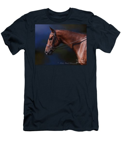 Handsome Profile Men's T-Shirt (Slim Fit) by Kathy Russell