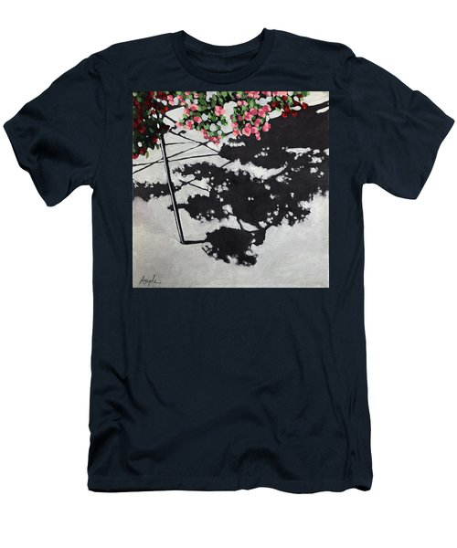 Hanging Shadows - Floral Men's T-Shirt (Athletic Fit)
