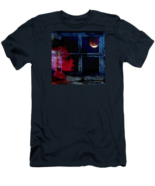 Men's T-Shirt (Slim Fit) featuring the photograph Harvest Moon by LemonArt Photography