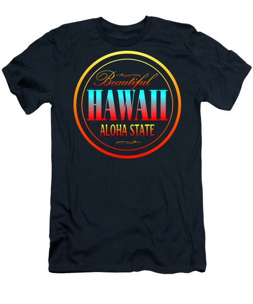 Hawaii Aloha State Design Men's T-Shirt (Athletic Fit)