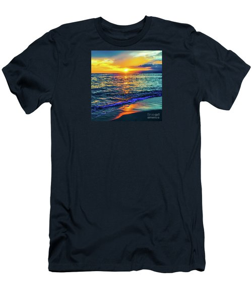 Hawaii Beach Sunset 149 Men's T-Shirt (Athletic Fit)