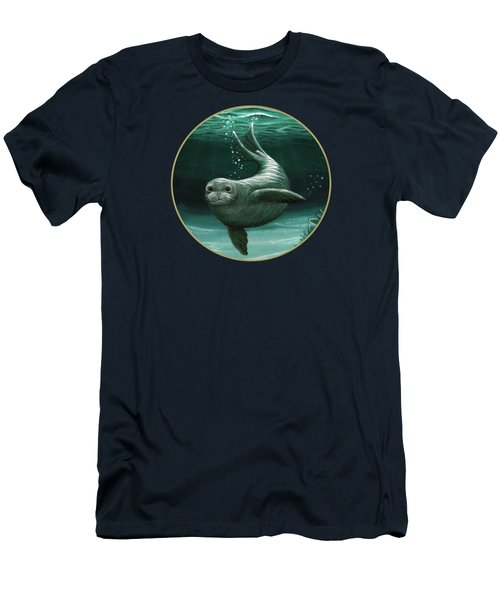 Hawaiian Monk Seal Men's T-Shirt (Athletic Fit)