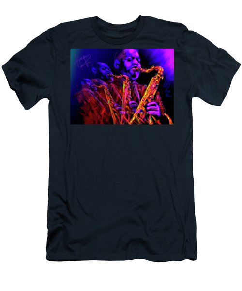 Men's T-Shirt (Slim Fit) featuring the painting Hawk by DC Langer