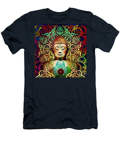 Heart Of Transcendence - Colorful Tribal Buddha Men's T-Shirt (Athletic Fit)