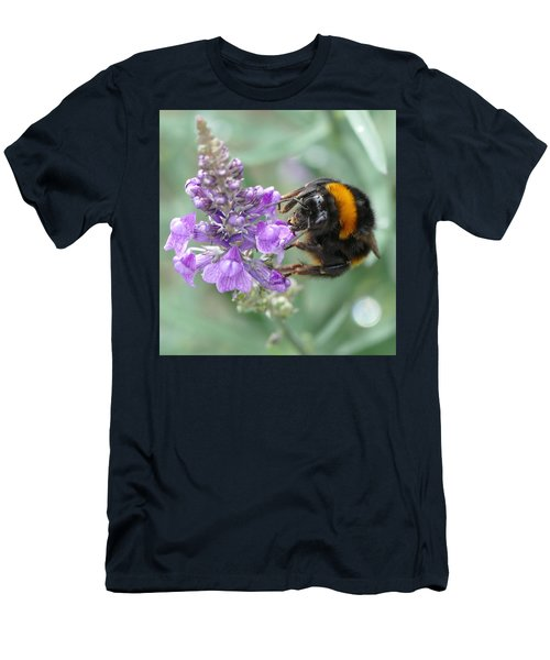 Men's T-Shirt (Athletic Fit) featuring the photograph Hello Flower by Ivana Westin