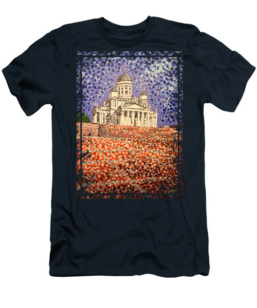 Helsinki Cathedral Men's T-Shirt (Athletic Fit)
