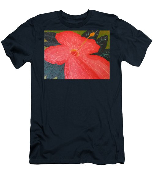 Hibiscus Men's T-Shirt (Slim Fit) by Barbara Yearty