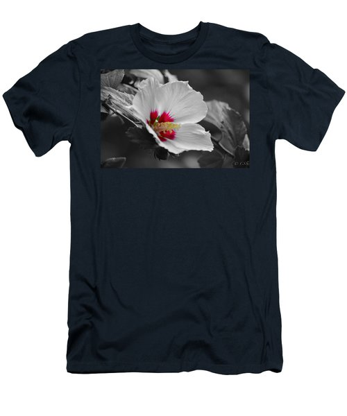 Hibiscus Bw Men's T-Shirt (Athletic Fit)