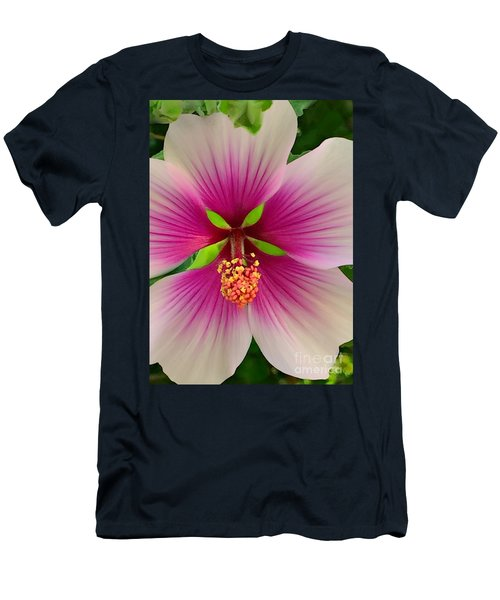 Hibiscus Face Men's T-Shirt (Athletic Fit)