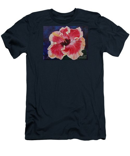 Men's T-Shirt (Slim Fit) featuring the painting Hibiscus by Jenny Lee