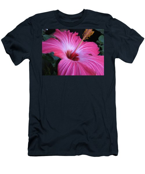 Hibiscus Photograph Men's T-Shirt (Slim Fit) by Barbara Yearty