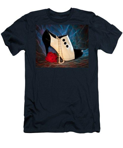 High Heel Spat Bootie Shoe Men's T-Shirt (Athletic Fit)