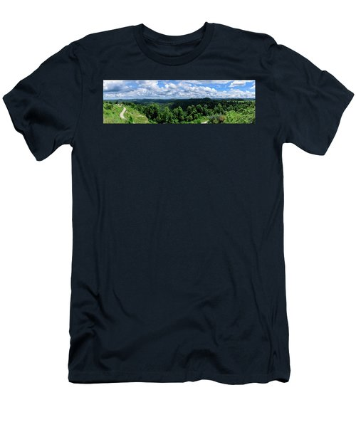 Hills And Clouds Men's T-Shirt (Athletic Fit)