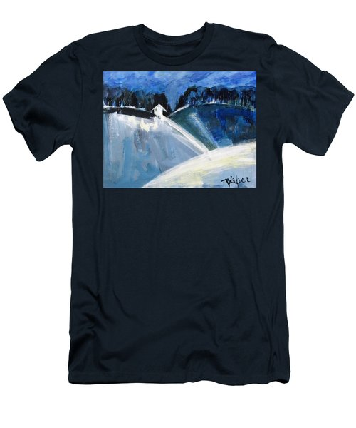 Hillside In Winter Men's T-Shirt (Athletic Fit)