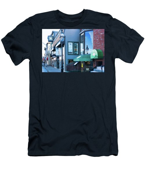 Historic Newport Buildings Men's T-Shirt (Slim Fit) by Nancy De Flon