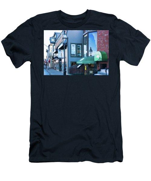 Historic Newport Buildings Men's T-Shirt (Slim Fit) by Nancy De Flon