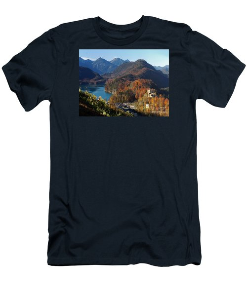 Hohenschwangau Castle And Alpsee In Bavaria Men's T-Shirt (Slim Fit) by Rudi Prott