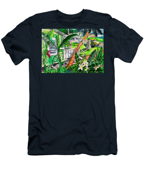 Home For The Holidays Men's T-Shirt (Slim Fit) by Eric Samuelson