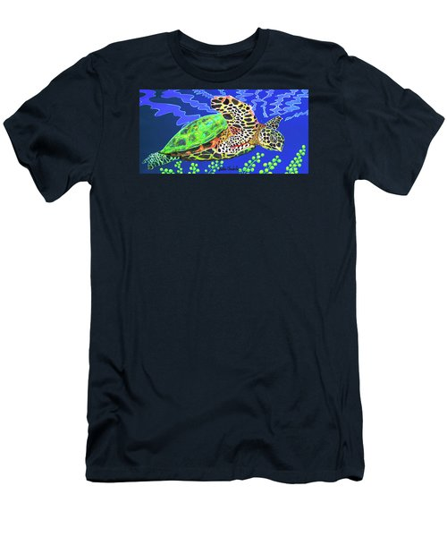 Honu Men's T-Shirt (Slim Fit) by Debbie Chamberlin
