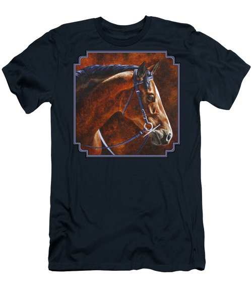 Horse Painting - Ziggy Men's T-Shirt (Slim Fit) by Crista Forest