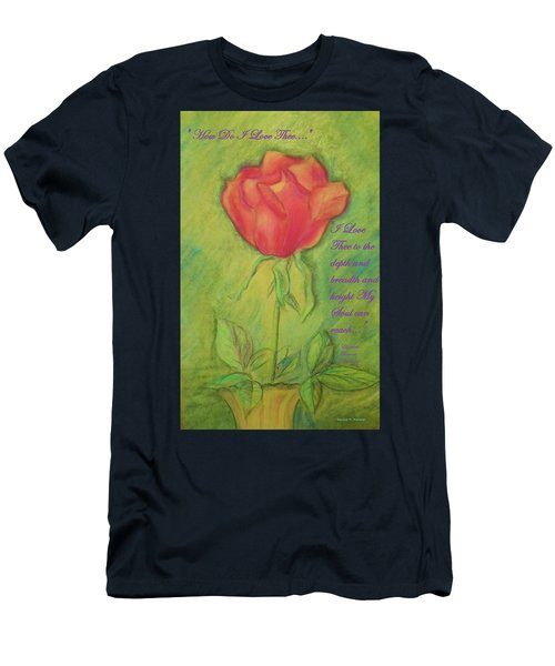 How Do I Love Thee ? Men's T-Shirt (Athletic Fit)
