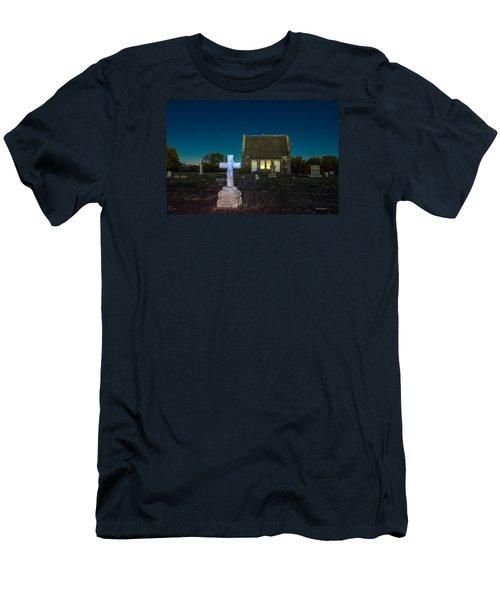 Hughes Children At Riverside Cemetery Men's T-Shirt (Slim Fit) by Stephen  Johnson