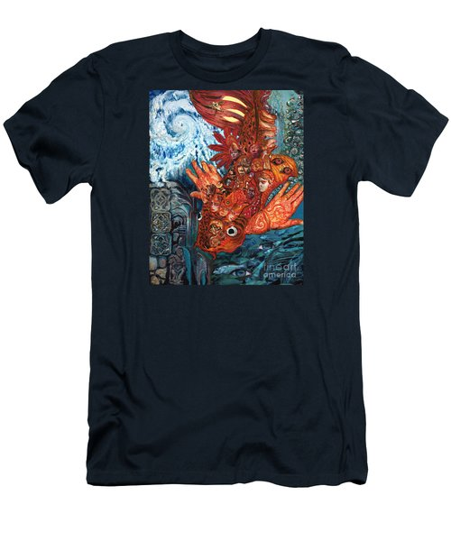 Humanity Fish Men's T-Shirt (Slim Fit) by Emily McLaughlin