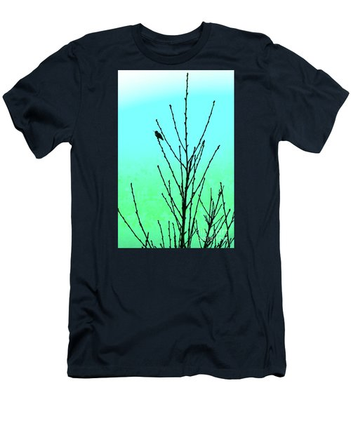 Hummingbird After Rain Men's T-Shirt (Athletic Fit)