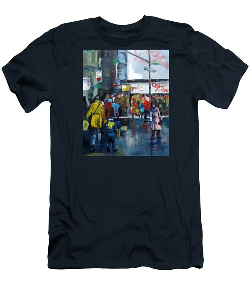 Hurry Men's T-Shirt (Slim Fit) by Barbara O'Toole