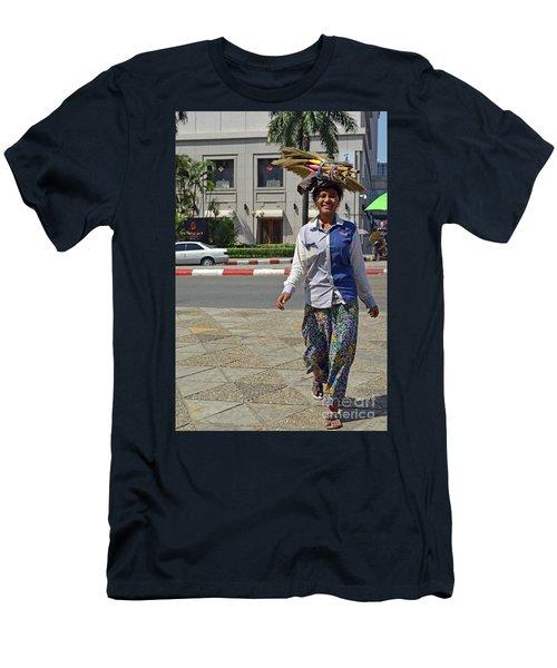 Men's T-Shirt (Slim Fit) featuring the digital art I Can Balance by Eva Kaufman
